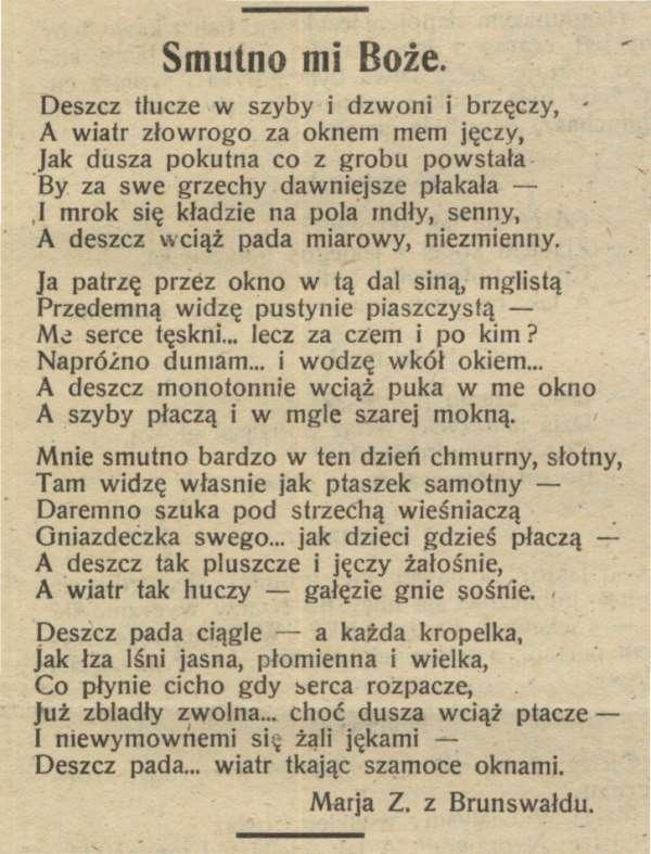 Wiersze Marii Zientary Malewskiej Zdjęcie 15849 Muzeum